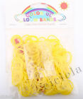 200X Loom Rubber Bands Yellow Rubber Band Bracelets Refill Compatible S-clips