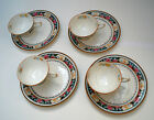 Royal Doulton, Very Rare! The Bailey Banks & Biddle Co., 4 Lunch Plates and Cups