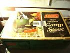 VINTAGE 1970'S 425 E COLEMAN CAMPING STOVE WITH BOX