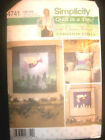 Simplicity Quilt in a Day Christmas Angels Wallhanging Pillow Pattern 4741 UC