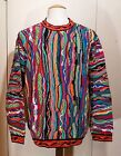 EUC MENS L VINTAGE COOGI AUSTRALIA MERCERISED COTTON COLORFUL SWEATER COSBY UGLY
