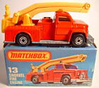 Matchbox No13D Snorkel Fire Engine rare amber windows boxed