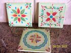 Southern Living at Home Hand Painted Provence Trivets NIB