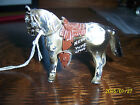 1957 New York City Lead Toy Paint Horse Advertising Stirrups Western Old Cowboy