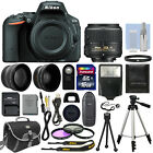 Nikon D5500 Digital SLR Camera Black + 3 Lens 18 55mm VR Lens + 16GB Bundle