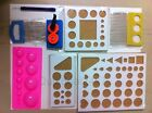 Paper Quilling Tool Kit 3 BoardCrimper2 Size CombMould  Slotted Set of 9