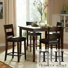 TRIBECCA Burnished Brown 5 piece Counter Height Set Dining Table Room Chairs