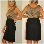 Beautiful gray Giorgio Armani Borgo 21 black label luxury charcoal skirt M