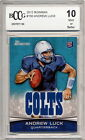 2012 Bowman Andrew Luck Rookie Card Graded BCCG 10
