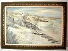 Beautiful Oil on Canvas Painting, Dick Knoblauch (20th century) BEACH SCENE