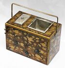 ANTIQUE JAPANESE EDO LACQUER WARE TOBACCO WOODEN BOX W/ DRAWERS MAKIE LACQUERED