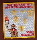 BSA Boy Scouts Patch: Two Rivers District 1996 Spring Camporee Scout Decathlon