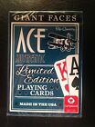 GIANT FACES-ACE AUTHENTIC Limited Edition Playing Cards by Cartamundi NEW!