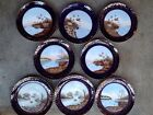 Fantastic Antique Porcelain set Of 8 Scenic Painted 8
