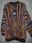 COOGI SWEATER Super Rare Vintage Mens Medium 3D Multicolor