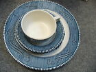 4 SETS CURRIER AND IVES SET OF 4  PLATE, FRUIT BOWL SAUCER CUP  OLD GRIST MILL