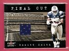 2001 Fleer Genuine Final Cut #22 Emmitt Smith Jersey - NM-MT