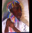 Artist Paul McCarron Figure Portrait Signed Pastel on Paper! RARE!