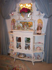 1800's French Country Cabinet Etagere Shabby Cottage Hutch Cupboard