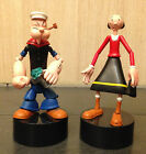 Set of 2 POPEYE The Sailorman Olive Oyl Toy Figures Poseable Loose