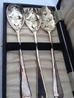 Antique English Silverplate Desert Fruit Serving Set William Adams W/Org Case