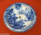 PERTH Antiques Porcelain  Fruit Wash Bowl and Strainer Blue & White Stamped RARE