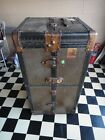 Antique Vintage Belber Steamer Wardrobe Trunk Chest 1920s black Florida Pick-Up