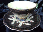 VINTAGE HB HAND PAINTED MORIAGE CUP & SAUCER WITH GOLD TRIM, OCCUPIED JAPAN. C