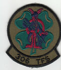 PATCH USAF SUBDUED 306th TFS Tactical Fighter Squadron Homestead AFB PARCHE