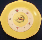Bailey Banks Biddle Whieldon Ware Winkle England Cabinet Plate Bowl Yellow Bird