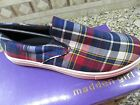 NEW MADDEN GIRL EMMIE PLAID SLIP ON LOAFERS SHOES WOMENS 85 FREE SHIP
