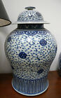 SPECIAL SALE-MATCHED PAIR OF LG CHINESE VASES W/LIDS; QING DYNASTY (1800)