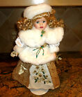 VICTORIAN BOWS HOLIDAY COLLECTION PORCELAIN DOLL 1998