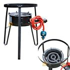 New Single Gas Stove Propane Burner Large BBQ LPG Cast Iron Stove Stand Outdoor