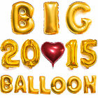 40 Gold Silver Big Foil Letter Number Balloons Wedding Birthday Party Decor