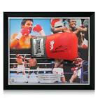 Sugar Ray Leonard Roberto Duran Signed Framed Lonsdale Boxing Glove Collectable