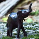 African Hand Carved Ebony Wood Elephant Statue