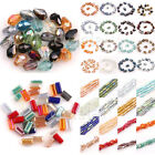 Lots Faceted Glass Crystal Charms Findings RectangleTeardrop Spacer Loose Beads