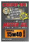 Cerma X 5qt15W40 synthetic motor oil with STM3 for diesel enginesself cleaning