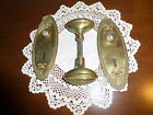 Vintage brass oval door knobs and back plates