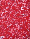 Snuggle Flannel Red and White Drawings Apparel General Quilting New BTY