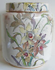 1886-1891 Dulton Burslem Covered Ginger Biscuit Jar Daffodils With Original Lid