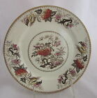 Antique Wedgwood Pottery Chinoiserie Chrysanthemum Floral Brown Transfer Plate