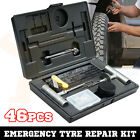 46PCS Tyre Puncture Repair Recovery Kit Heavy Duty 4WD Offroad Plugs Tubeless