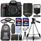 Nikon D7200 Digital SLR Camera Body + 18 140mm VR Lens + 24GB Accessories Kit