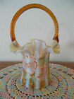 FENTON AUTUMN GOLD OPALESCENT RIB OPTIC HP
