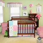 Baby Girl Cute Pink Blue Green Cupcake Infant Crib Nursery Quilt Bedding Bed Set