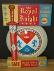 MATTEL 1954 ROYAL KNIGHT COLORFUL TIN-LITHO SWORD & SHIELD SET - GORGEOUS MINT!