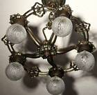 {{AWESOME}}1930's RARE RIDDLE VINTAGE ANTIQUE Ceiling Light Fixture CHANDELIER