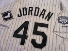 Michael Jordan Chicago White Sox Rawlings Authentic Home Jersey Size 46 Bulls